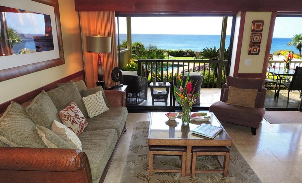 Alihi Lani 1 luxury ocean front vacation rental in Poipu Beach, Kauai