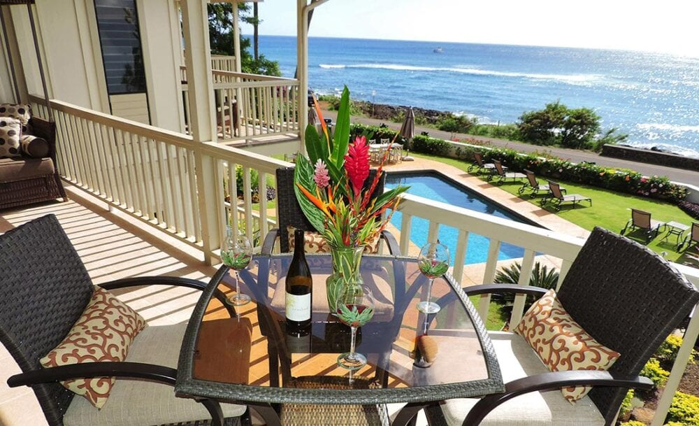 Alihi Lani 4 luxury vacation rental ocean front at Poipu Beach, Kauai