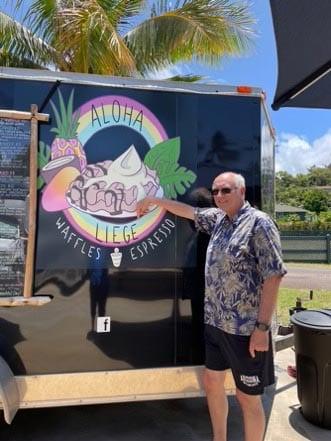 Aloha Liege Waffles and Espresso food truck is a fan favorite