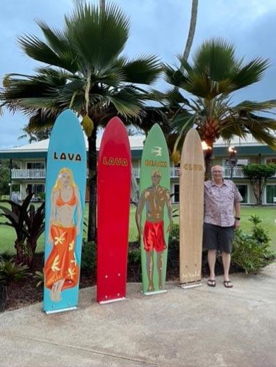 Lava Lava Beach Club in Kauai for great poke and dinner on the beach