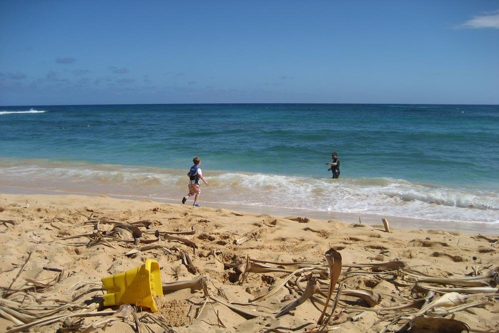 Poipu Beach at Sheraton Hotel Kauai by Robin Gotfrid