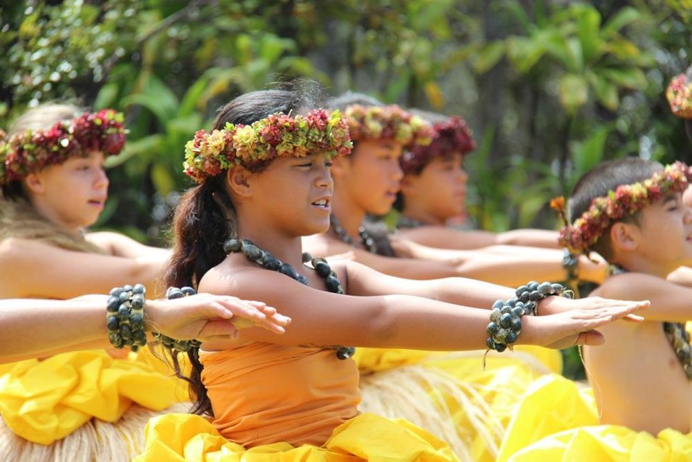 Keiki o Hālau o Kekuhi perform hula at the 2013 Hawaiian Cultural Festival